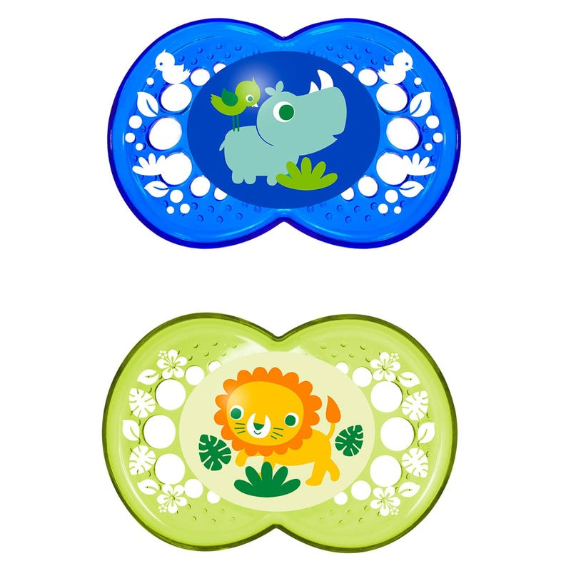 6months+ Pacifiers Set of 2 - Crystal Blue