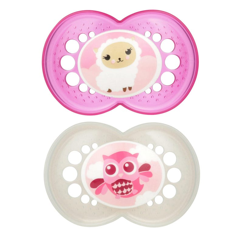 16months+ Pacifiers Set of 2 - Original Pink