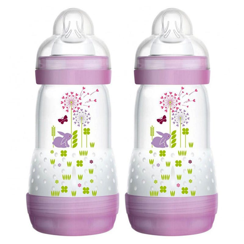 Easy Start Anti-Colic Baby 9oz Bottle Set of 2 - Purple