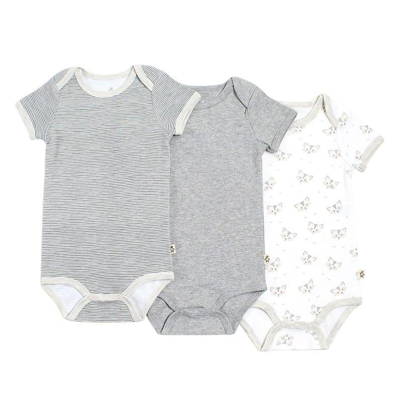 Raccoon Bodysuits 3-24m - Set of 3