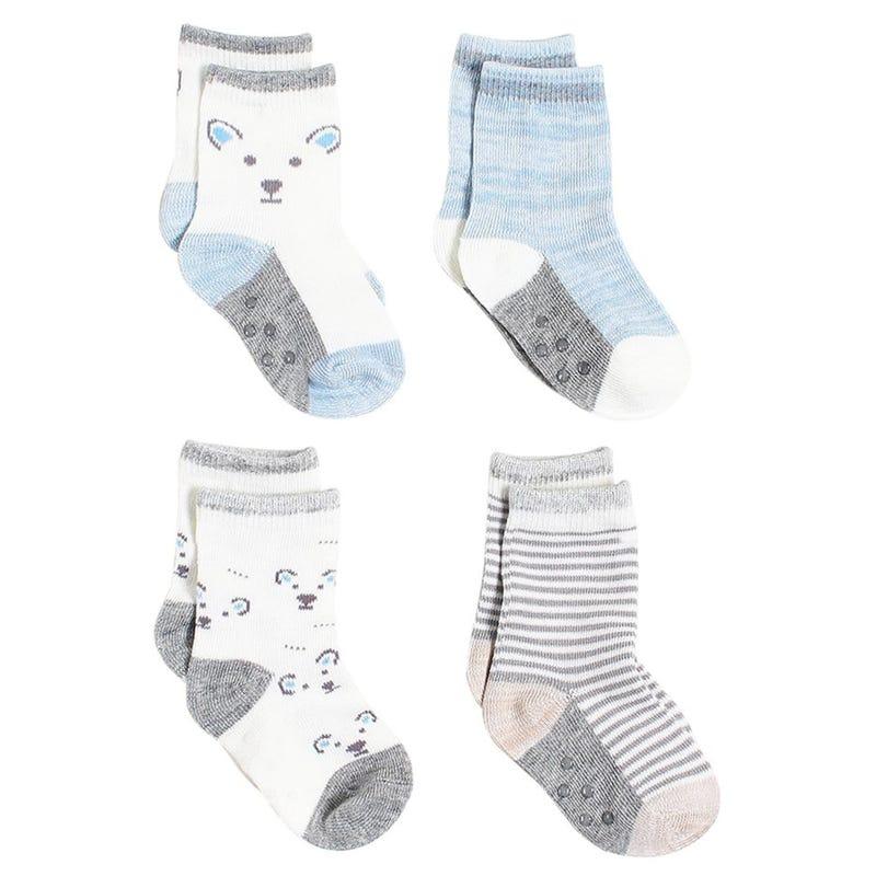 Bear Socks 12-24m - Set of 4