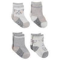 Crew Socks Raccoon 12-24m - Set of 4