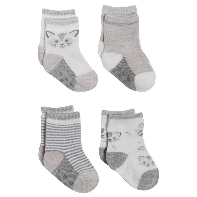 Crew Socks Raccoon 12-24m - Set of 4