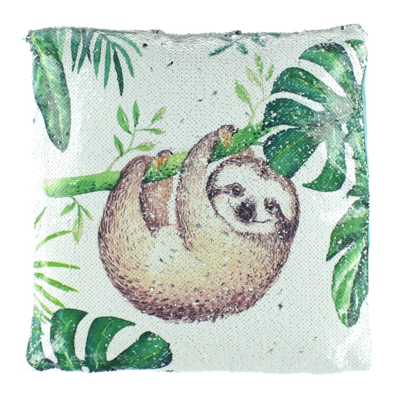 Cushion - White Sloth