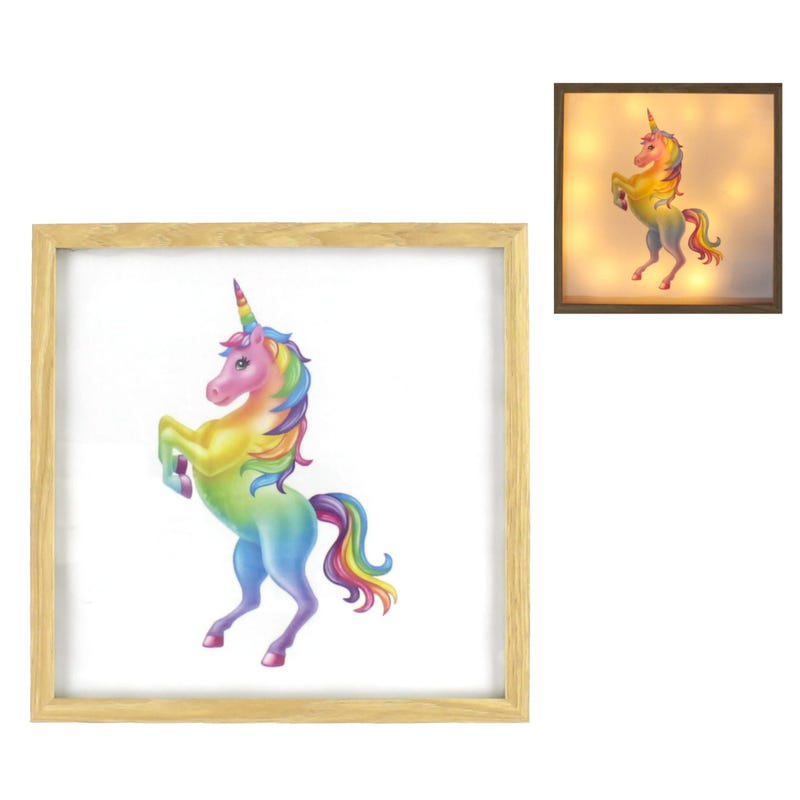 Light Box - Multicolor Unicorn