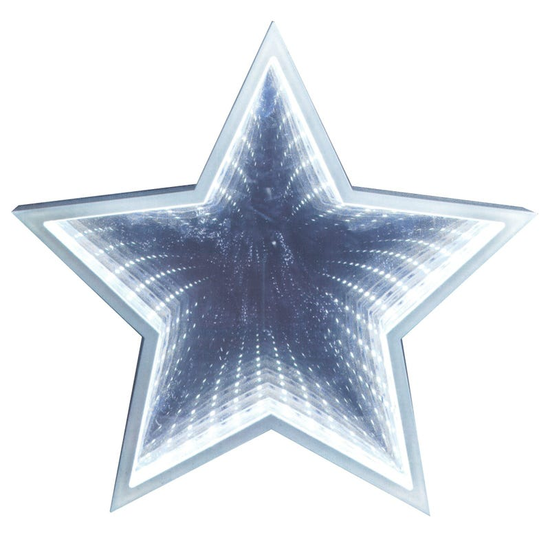 Mirror With Led - White Star