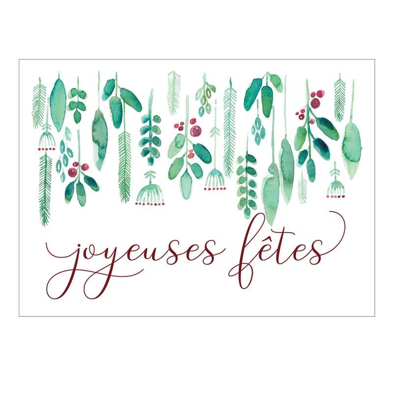 Carte de Souhait Joyeuses Fêtes - Gui
