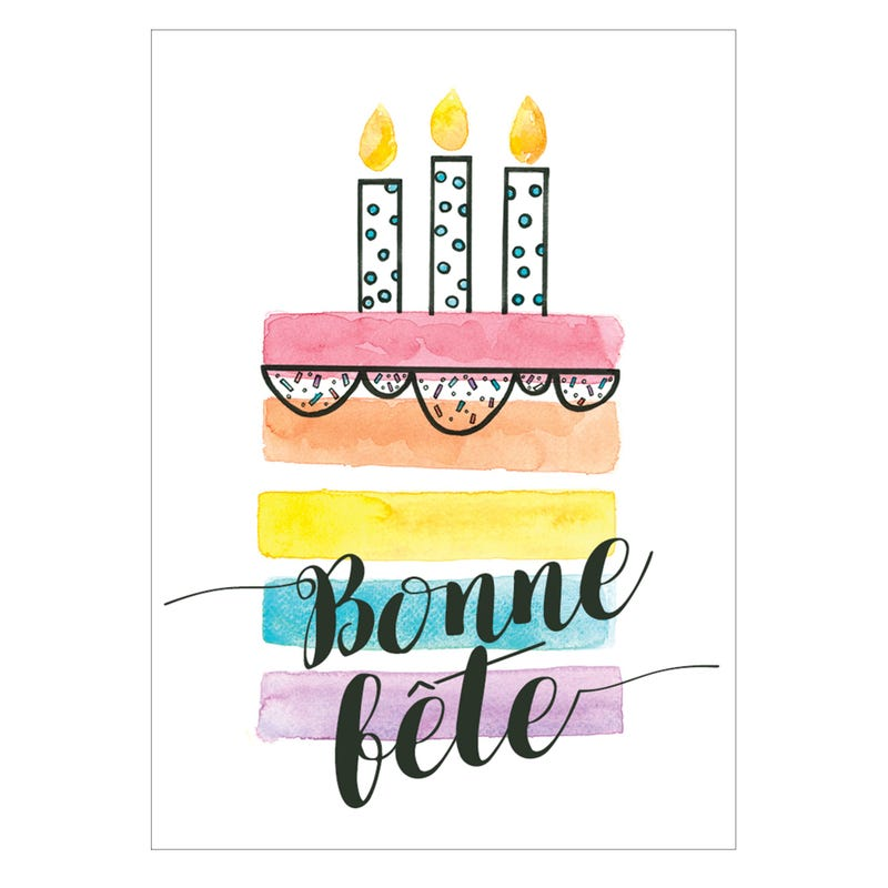 Wish Card Bonne Fête