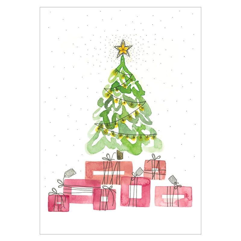 Carte de Souhait Sapin Cadeaux