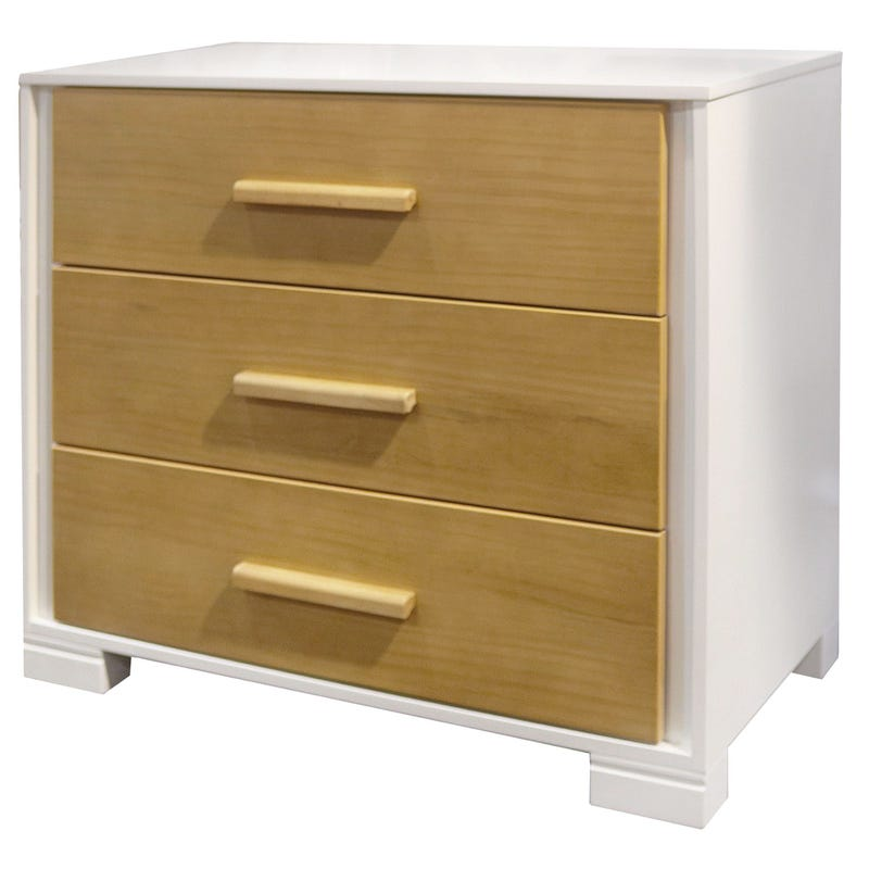 3 Drawers Dresser - White/Natural