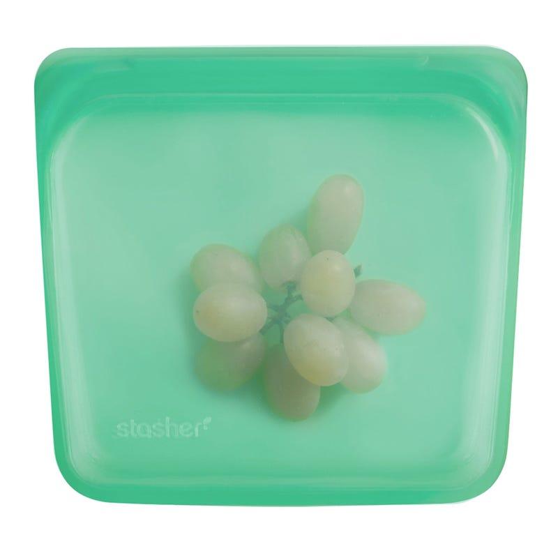 Sac à Sandwich Réutilisable en Silicone - Vert Jade