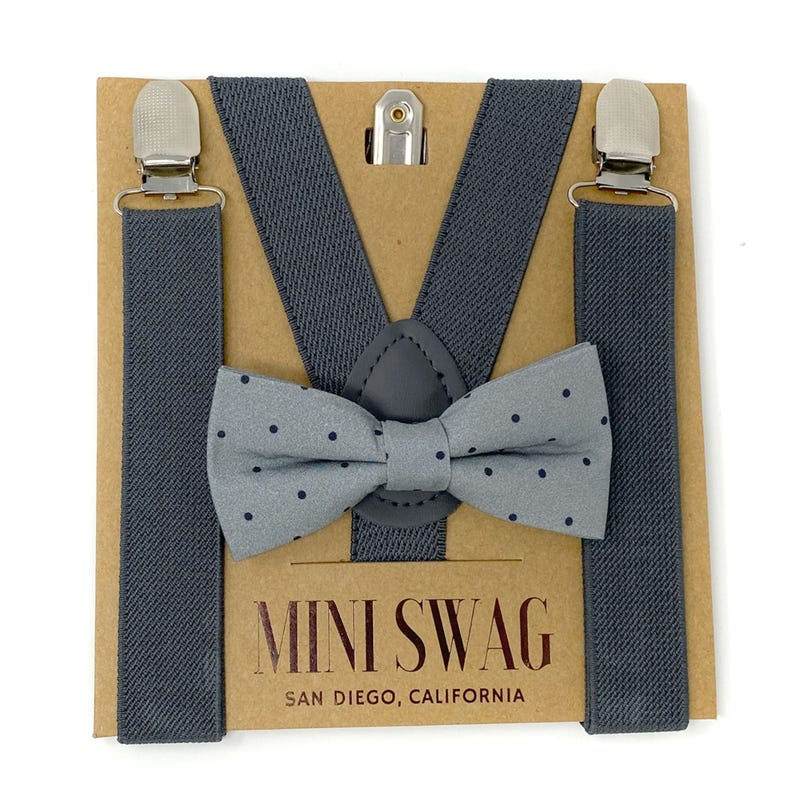 Bow Tie & Suspender Set 0-24m