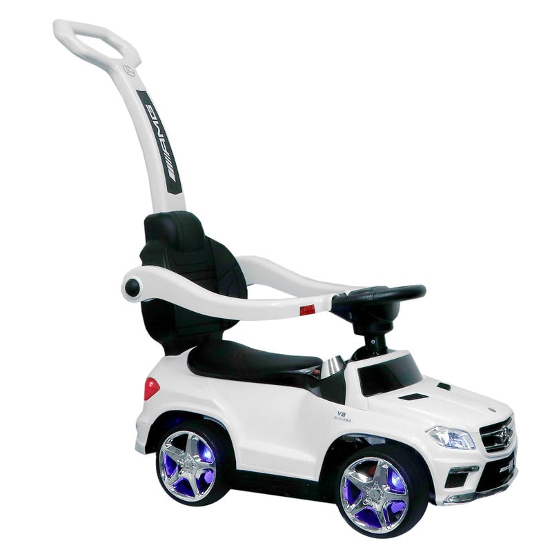 Mercedes Benz GL63 AMG  4-In-1 Baby Push Pedal Car - White