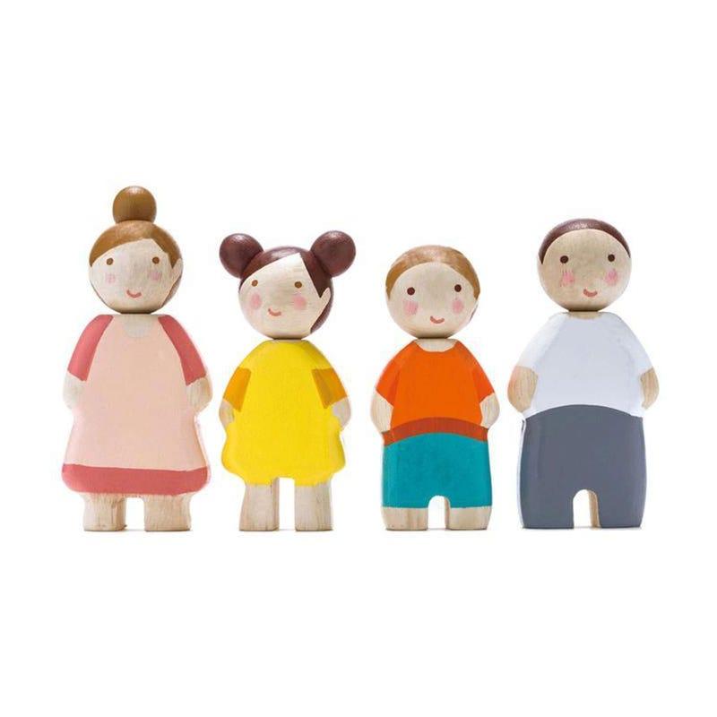 Figurines La Famille 4 Morceaux