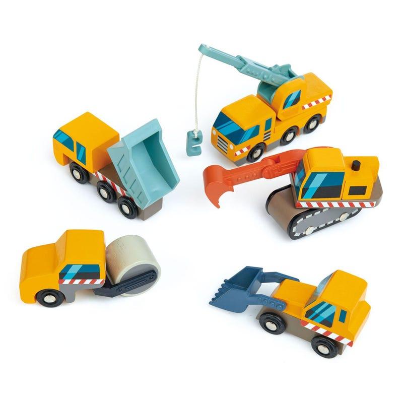 Ensemble de Camions Construction 5 Morceaux