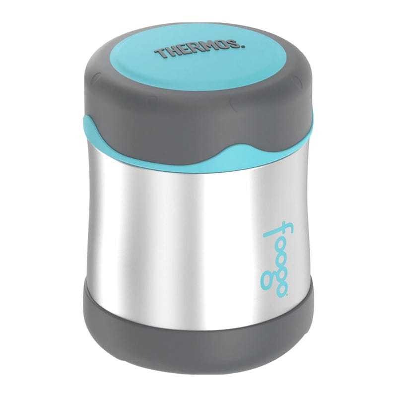 Foogo Stainless Steel Food Jar 10oz - Charcoal/Teal