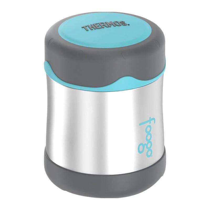 Foogo Stainless Steel Food Jar 10oz - Charcoal/Teal