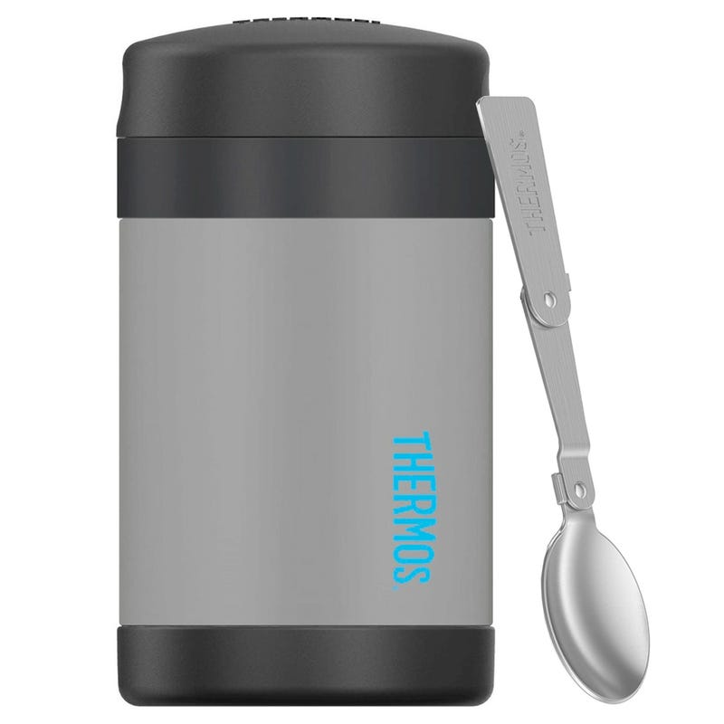 Funtainer Stainless Steel Food Jar With Spoon 16oz - Gray