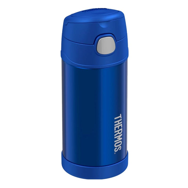 Funtainer Stainless Steel Water Bottle With Straw 12oz - Blue