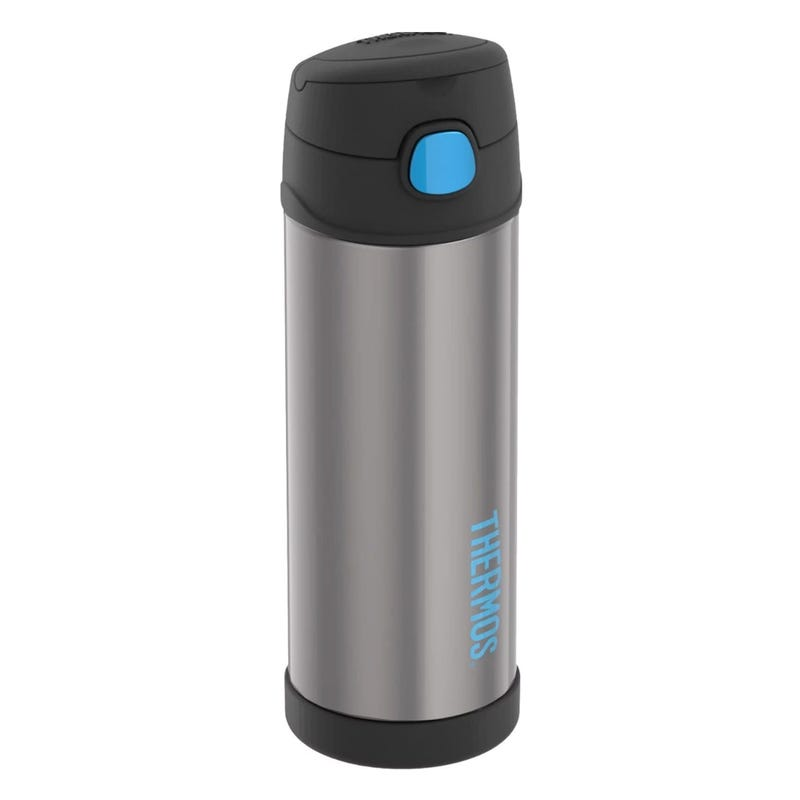 Funtainer Stainless Steel Water Bottle With Spout 16oz - Charcoal/Blue