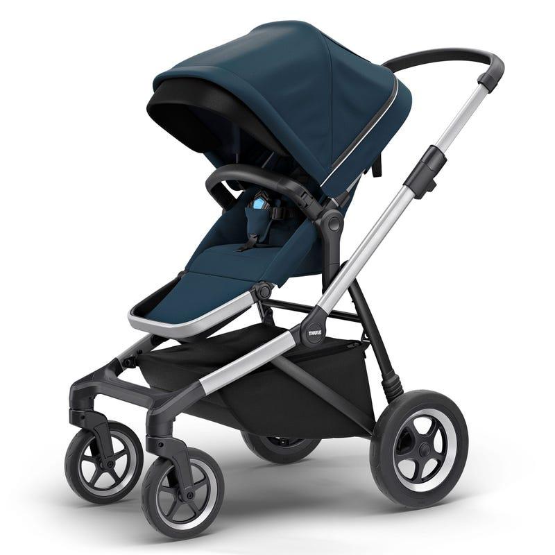 Sleek 4W Stroller - Navy Blue