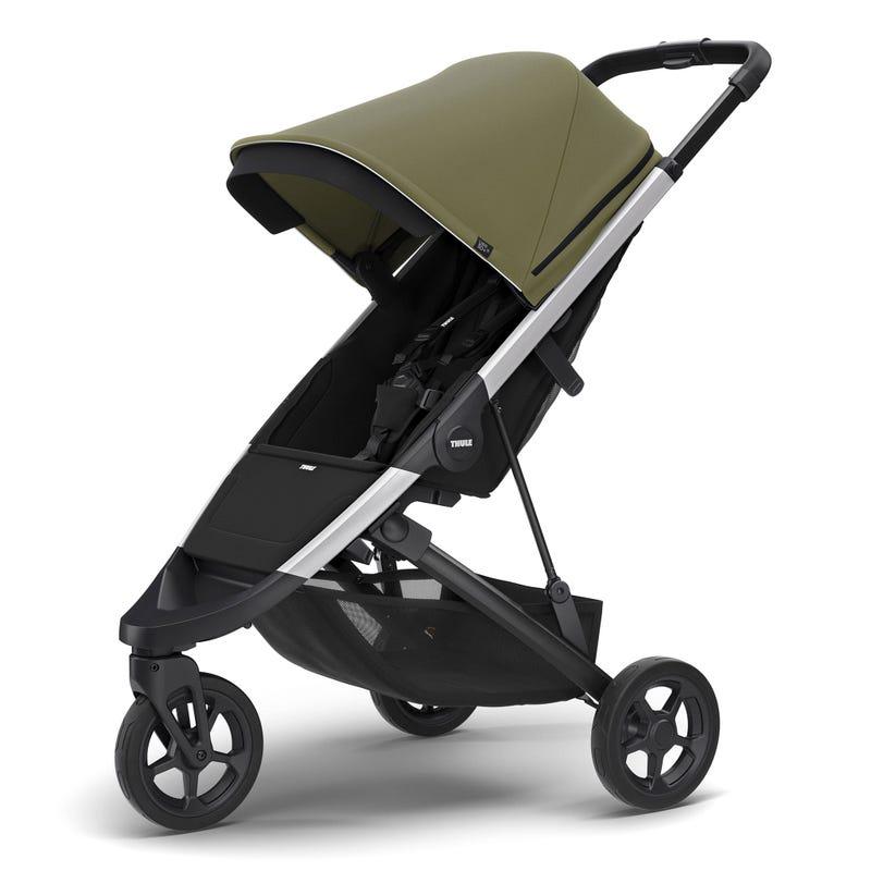 Thule Spring Stroller - Aluminum / Olive (Pre-order February 2020)