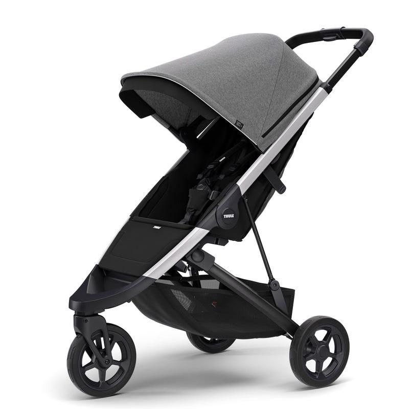 Thule Spring Exclusive Stroller - Aluminum / Grey Melange