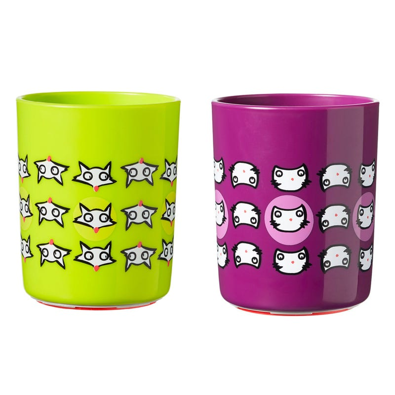 No Knock Cup 12months+ Set of 2 - Cat/Fox