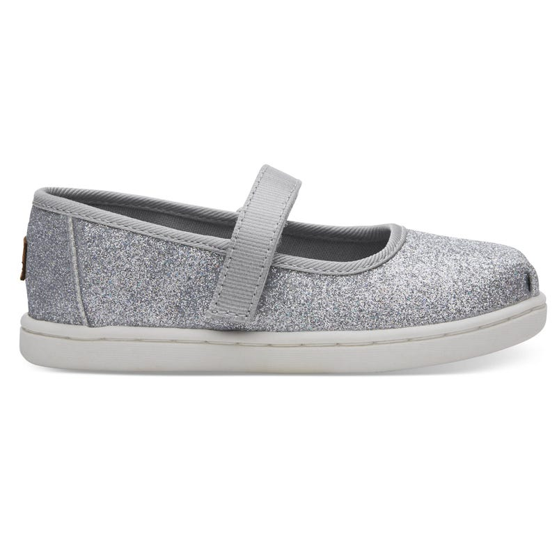 Soulier Mary Jane Iridescent Argent Pointure 4-11