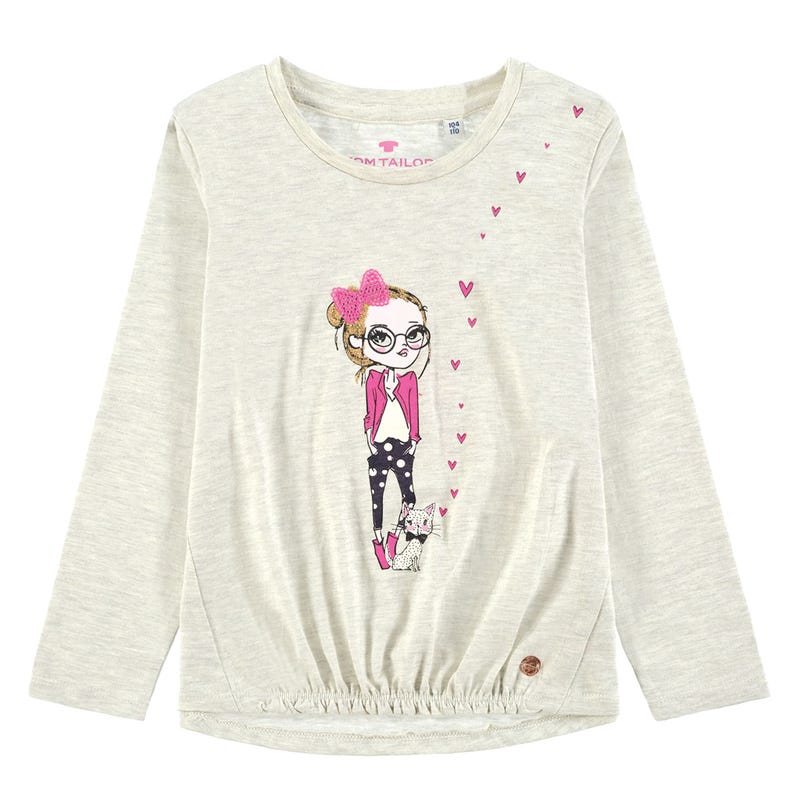 T-Shirt Fille Chat 2-9ans