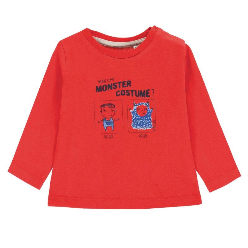 T-Shirt à Manches Longues Monstre 9-24mois