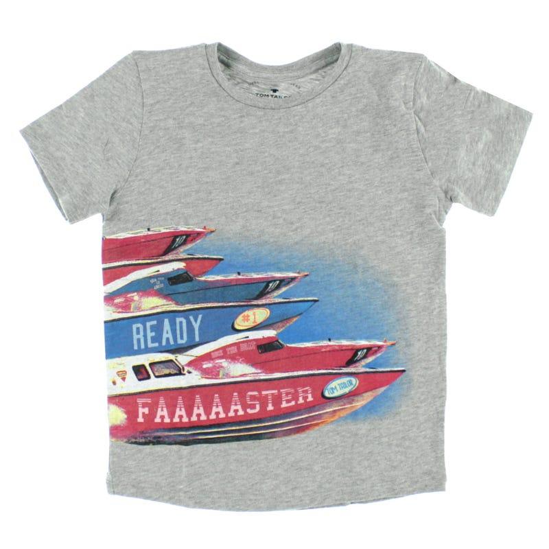 T-Shirt Faster Bateau 2-9ans