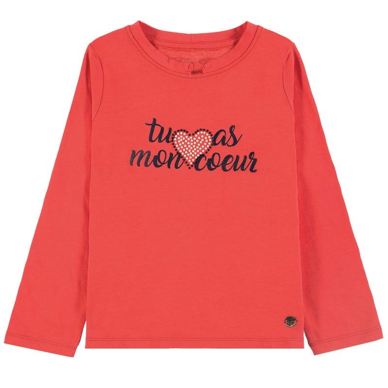 T-Shirt à Manches Longues Coeur Paris 2-9ans
