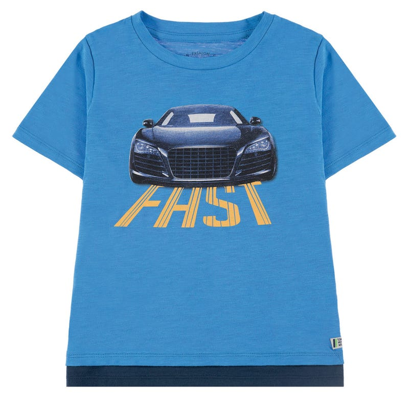 T-Shirt Fast Auto 2-9ans