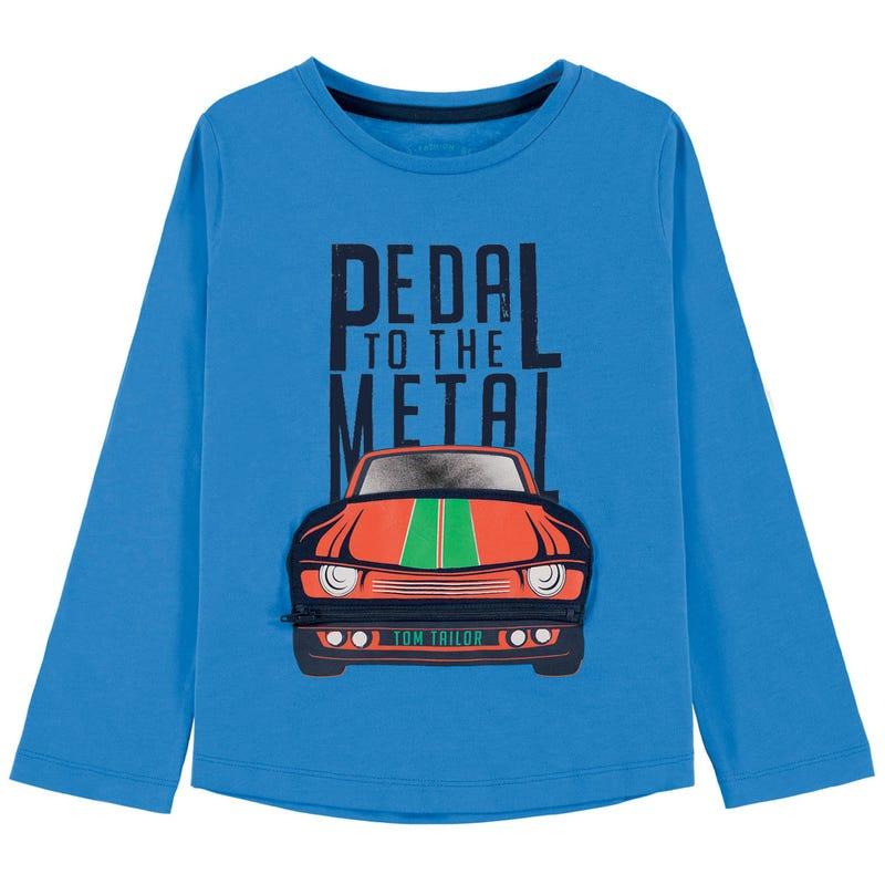 T-Shirt à Manches Longues 3D Auto 2-9ans