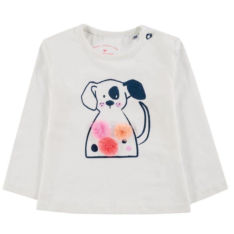 Pompom Puppy T-Shirt 9-24m
