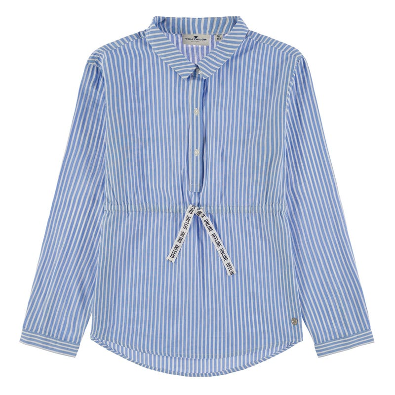 Chic Striped Long Sleeve Tunic 8-14y
