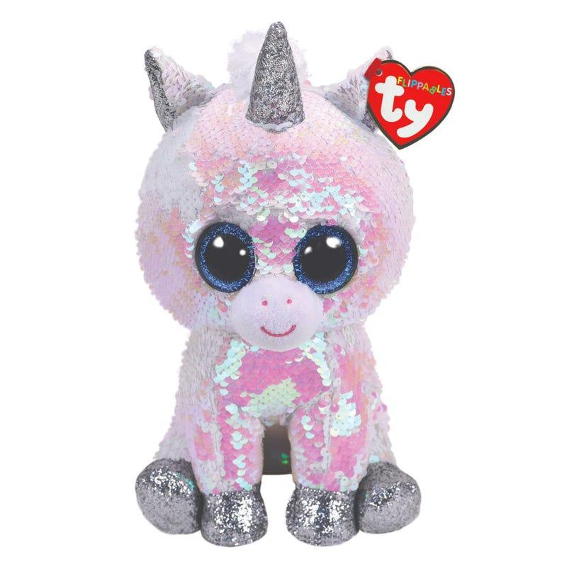 "Sequin Plush 9"" - Pixy White Unicorn"