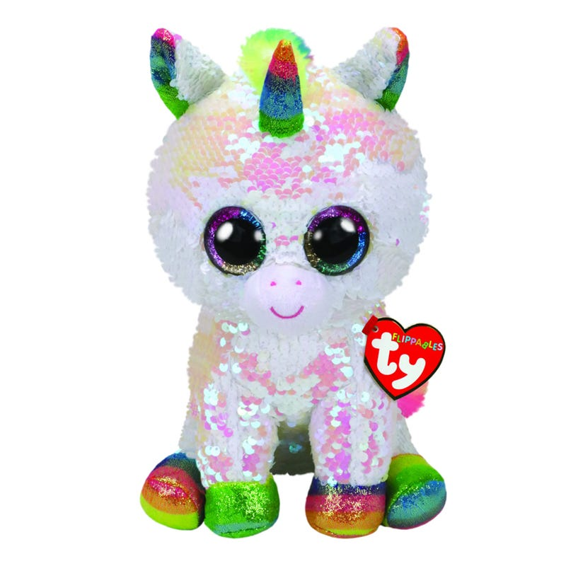 "Sequin Plush 9"" - Pixy White Unicorn"