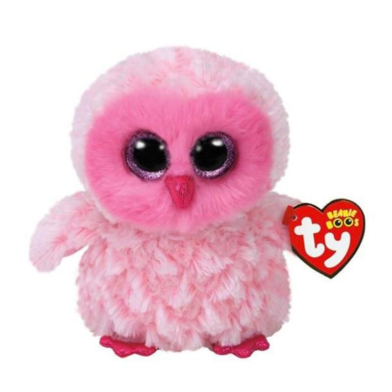 Peluche Hibou Gros Yeux - Rose