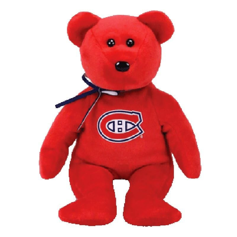 Ours Canadiens Rouge 8""