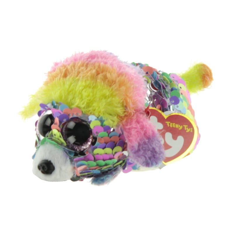 "Teeny Sequin Plush 4"" - Rainbow Poodle"