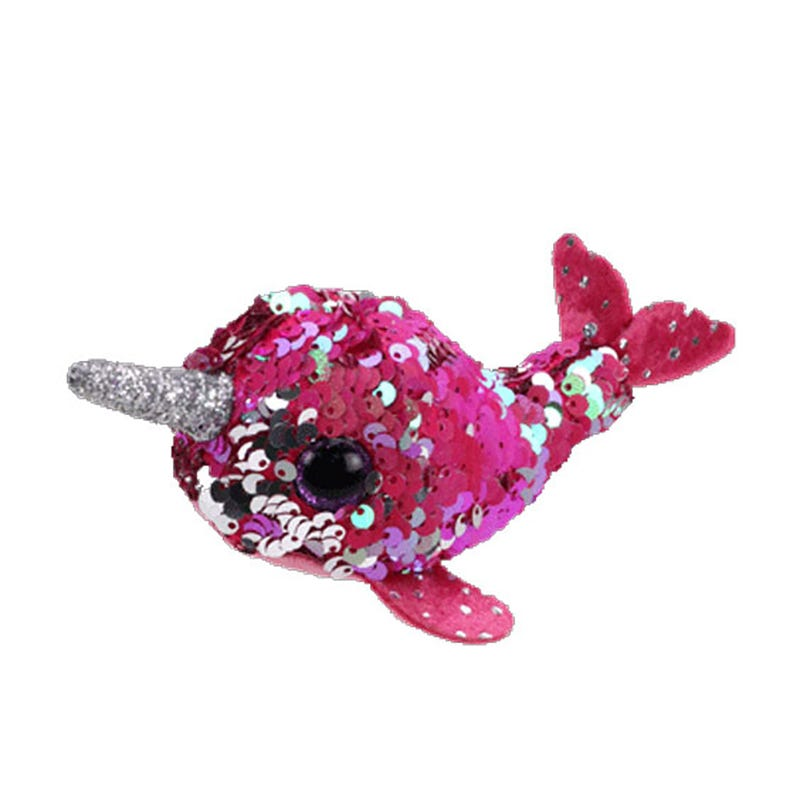 """Teeny Sequin Plush 4"""" - Nelly Narwhal"""