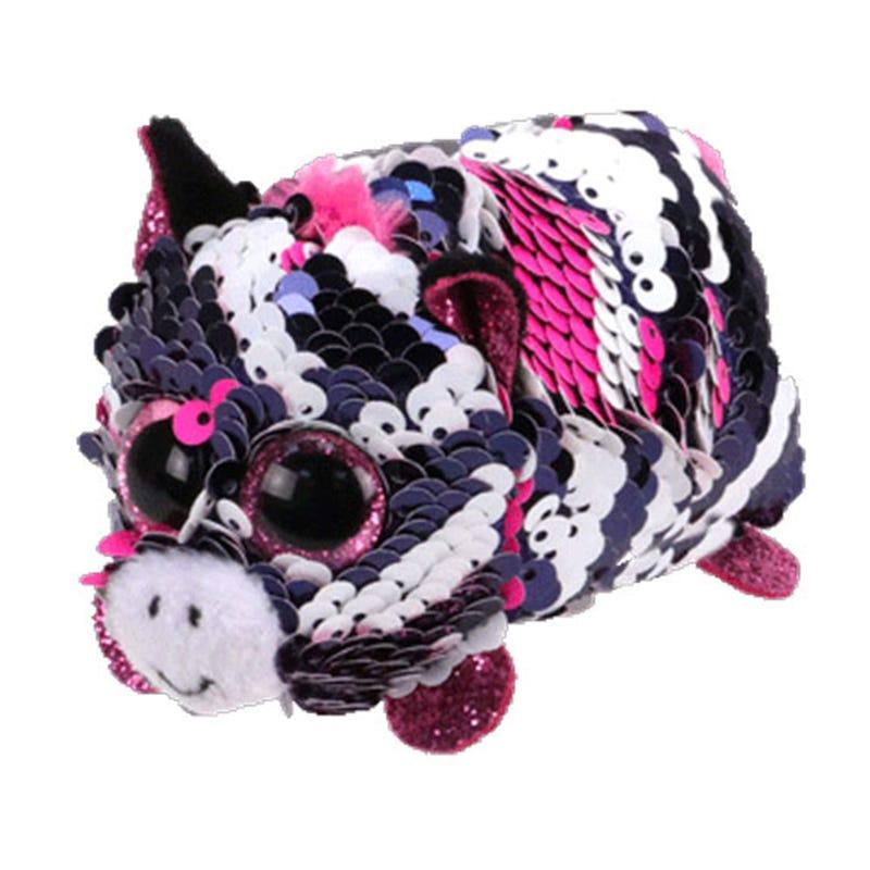 "Teeny Sequin Plush 4"" - Zoey Pink Zebra"