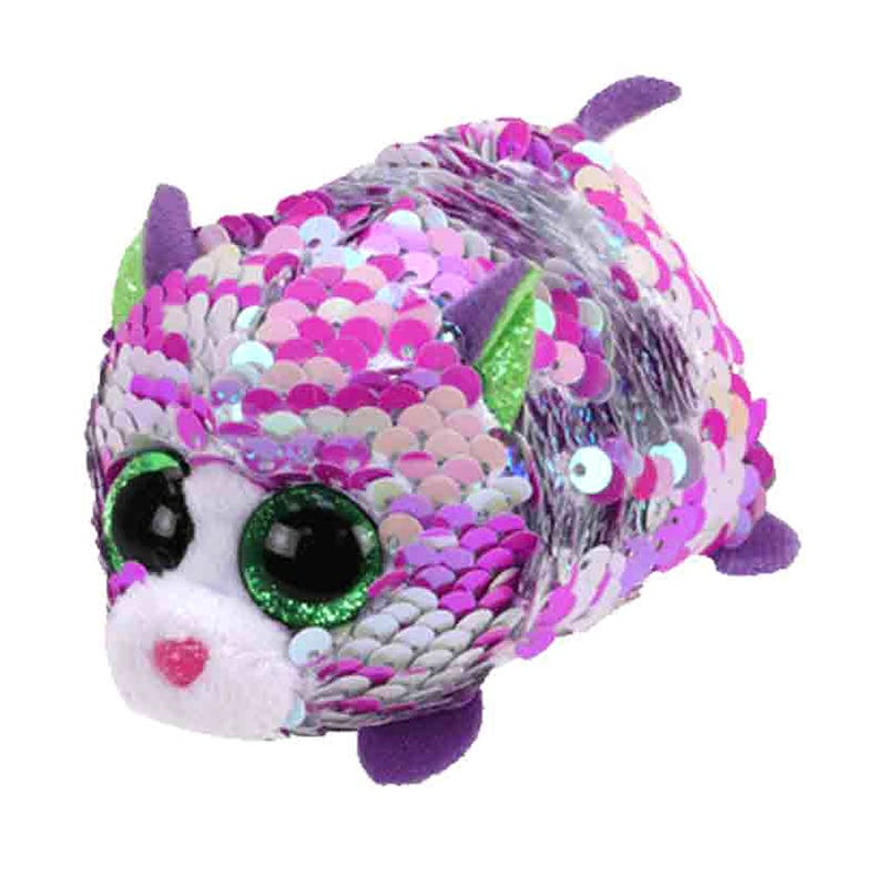 "Teeny Sequin Plush 4"" - Lilac Purple Cat"