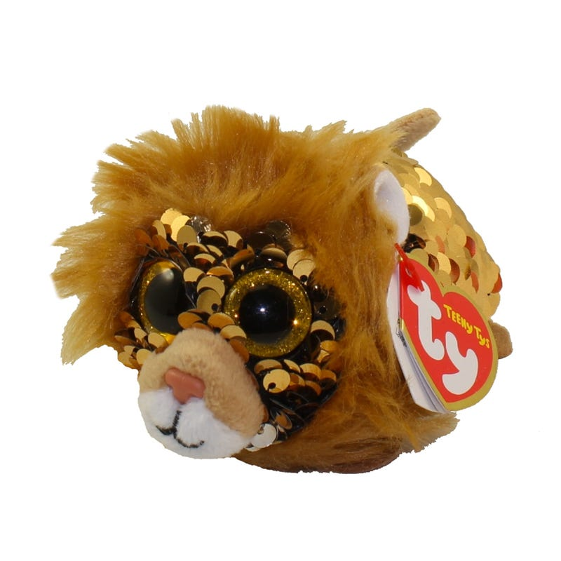 "Teeny Sequin Plush 4"" - Regal Lion"
