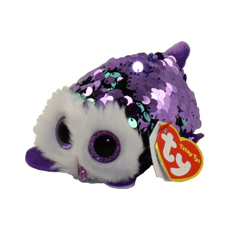 "Teeny Sequin Plush 4"" - Moonlight Purple Owl"