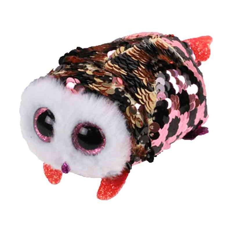 "Teeny Sequin Plush 4"" - Checks Pink/Black Owl"