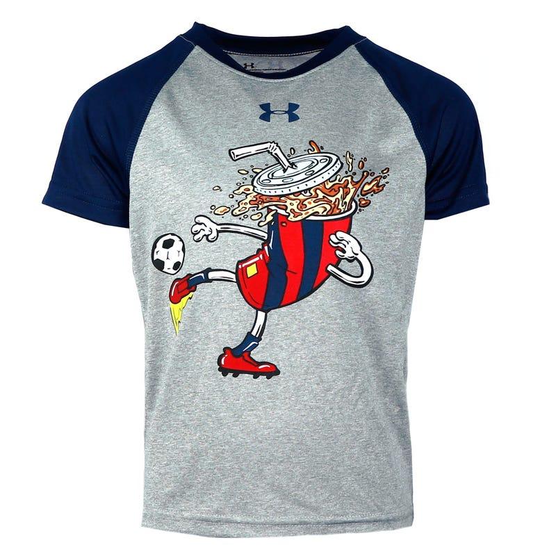 Raglan Soccer Soda T-Shirt 4-7y