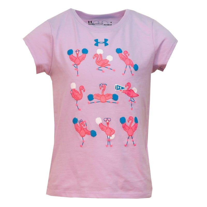 Flamingo Cheer T-Shirt 4-6y